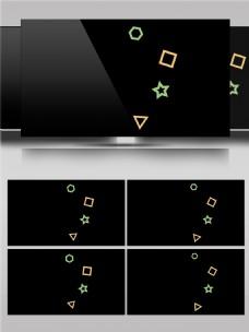 可爱卡通几何图形动画视频素材