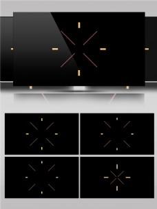 简单创意设计图形线条动画视频素材
