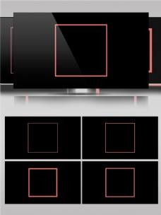 正方形图形图案动画素材