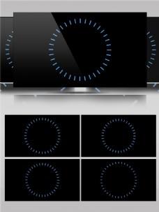 创意圆形图案动画视频素材