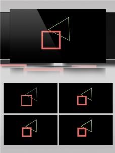 创意几何图形组合动画视频素材