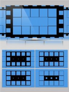 小正方格仔创意组合动画视频素材