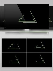三角形层层叠加动画素材