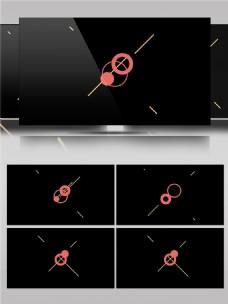 创意线条圆圈组合图案动画视频素材