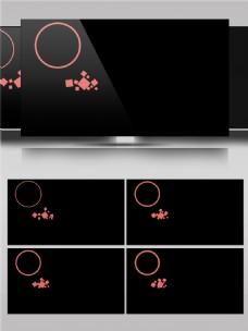 圆环几何图形动画视频素材