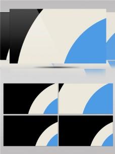 黑白蓝色创意半圆动画视频素材