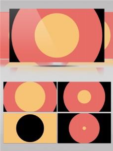 三色圆形图案动画视频素材