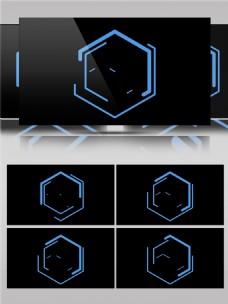 纯色线条组合多边形动画视频素材