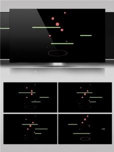 创意圆点线条动感动画视频素材