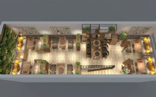 餐饮空间俯瞰图