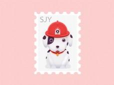 邮票可爱卡通狗狗