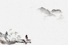 优雅古风中国风水墨背景