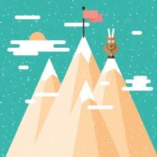 雪山動物插圖