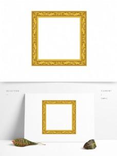 金黄英伦欧式华丽相框边框元素