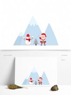 卡通风格圣诞元素