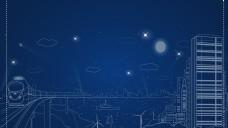 蓝色数码科技城市背景