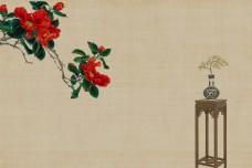 古典风水墨广告背景图