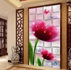 梦幻抽象花朵时尚玄关