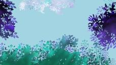 绿色治愈系手绘植物背景