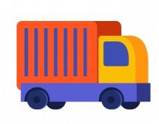 卡通几何货车元素