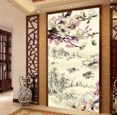 兰香富贵中式古典玄关