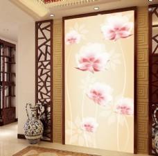 梦幻抽象花朵玄关