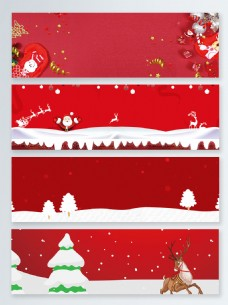 圣诞袜卡通圣诞节banner背景