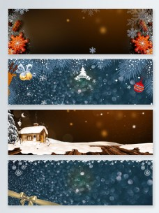梦幻圣诞活动促销banner背景