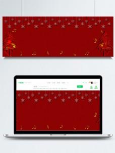 原创圣诞节剪纸背景