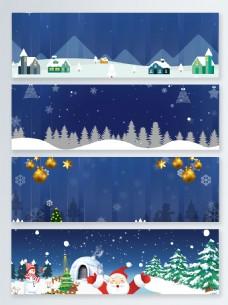 浪漫圣诞活动促销banner背景