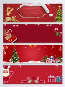 圣诞袜圣诞节卡通促销banner背景