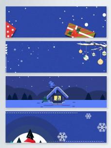 唯美卡通圣诞节banner背景