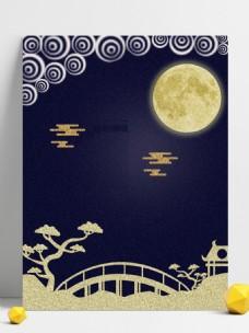 唯美中秋节展板背景设计