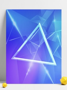蓝色几何创意科技三角形背景