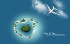 海岛海洋游泳