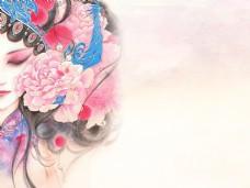 优雅古典古风中国风水墨背景