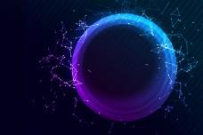 蓝色光效电子科技背景