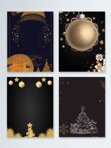 黑金圣诞节快乐节日促销广告背景