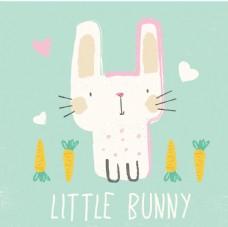 手绘卡通兔子
