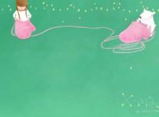 可爱梦幻插画卡通背景海报素材