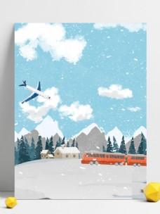 彩绘大雪节气背景