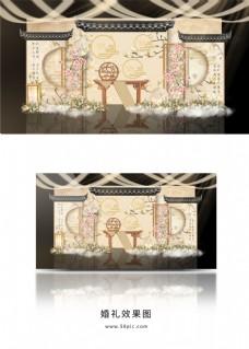 新中式素雅中国风婚礼效果图