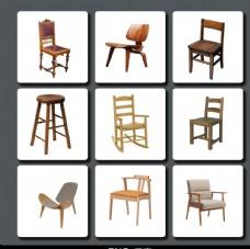 木质椅子素材