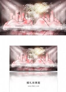 粉色花园婚礼效果图