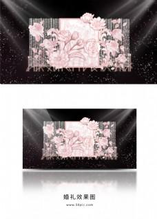 粉色复古欧式婚礼效果图