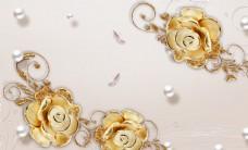 珠寶花背景墻