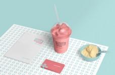 冰淇淋形象vi样机模板