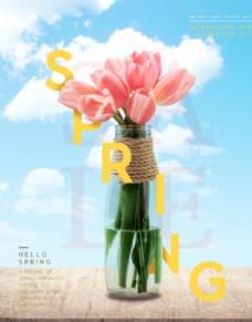 春天气息鲜花海报