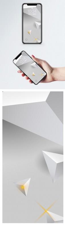 立体几何背景手机壁纸