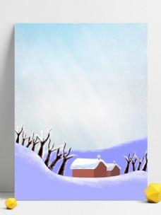二十四节气之小雪插画背景